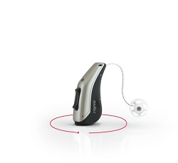 One Siemens/Signia PURE 13 BT 5px Hearing Aid with 80 batteries