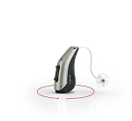 One Siemens Signia PURE 13 3Nx Hearing Aid with 80 batteries