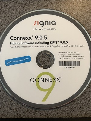 Siemens Signia Connexx 9 Fitting Software DVD